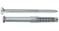 Universalus nailoninis kaištis su įleidžiamu medsraigčiu TORX galvute